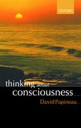 Cover for Thinking about Consciousness