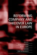 Cover for Reforming Company and Takeover Law in Europe