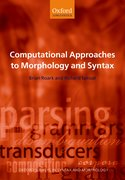 Cover for Computational Approaches to Morphology and Syntax