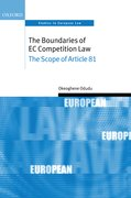 Cover for The Boundaries of EC Competition Law