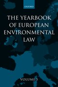 Cover for The Yearbook of European Environmental Law