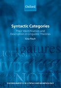 Cover for Syntactic Categories