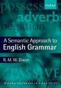 Cover for A Semantic Approach to English Grammar