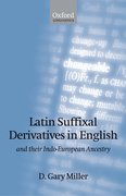 Cover for Latin Suffixal Derivatives in English