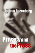Cover for Privacy and the Press