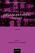 Cover for Organizational Trust