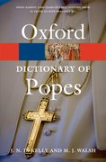 Cover for A Dictionary of Popes
