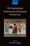 Cover for The Institutional Framework of European Private Law