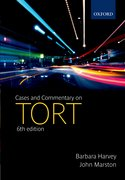 Cover for Cases and Commentary on Tort