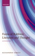 Cover for Forms of Rabbinic Literature and Thought