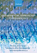 Cover for Experimental Approaches to Phonology