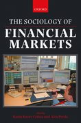 Cover for The Sociology of Financial Markets
