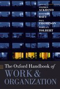 Cover for The Oxford Handbook of Work and Organization