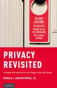 Cover for Privacy Revisited - 9780199315215