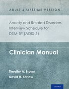 Cover for Anxiety and Related Disorders Interview Schedule for DSM-5 (ADIS-5) -  Adult and Lifetime Version