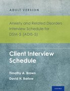 Cover for Anxiety and Related Disorders Interview Schedule for DSM-5 (ADIS-5) - Adult Version