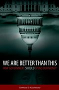 Cover for We Are Better Than This