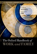 Cover for The Oxford Handbook of Work and Family