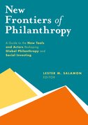 Cover for New Frontiers of Philanthropy