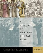 Cover for A History of Western Choral Music, Volume 1