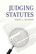 Cover for Judging Statutes