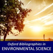 Cover for Oxford Bibliographies in Environmental Science