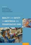 Cover for Quality and Safety in Anesthesia and Perioperative Care