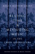 Cover for Beating Time and Measuring Music in the Early Modern Era