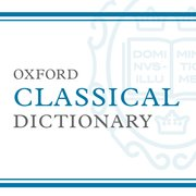 Cover for Oxford Classical Dictionary - 9780199381135