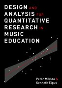 Cover for Design and Analysis for Quantitative Research in Music Education