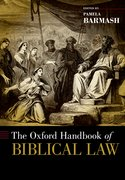 Cover for The Oxford Handbook of Biblical Law