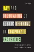 Cover for Law and Regulation of Public Offering of Corporate Securities