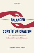 Cover for Balanced Constitutionalism - 9780199470587
