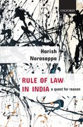 Cover for Rule of Law in India