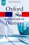 Cover for A Dictionary of Dentistry
