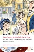 Cover for So You Think You Know Jane Austen? - 9780199538997
