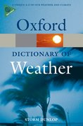 Cover for A Dictionary of Weather