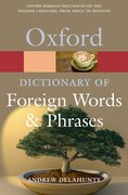 Cover for Oxford Dictionary of Foreign Words and Phrases