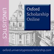 Cover for Oxford Scholarship Online - Linguistics