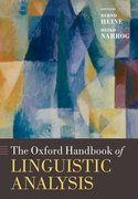 Cover for The Oxford Handbook of Linguistic Analysis