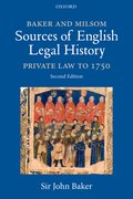 Cover for Baker and Milsom Sources of English Legal History