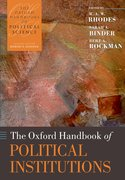 Cover for The Oxford Handbook of Political Institutions