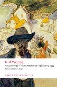 Cover for Irish Writing