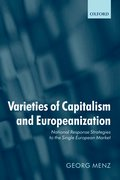 Cover for Varieties of Capitalism and Europeanization
