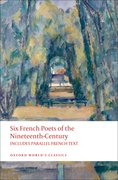 Cover for Six French Poets of the Nineteenth Century