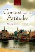 Cover for Context and the Attitudes