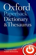 Cover for Oxford Paperback Dictionary & Thesaurus - 9780199558469