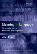 Cover for Meaning in Language