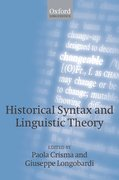Cover for Historical Syntax and Linguistic Theory