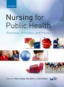 Cover for Nursing for Public Health: Promotion, Principles and Practice